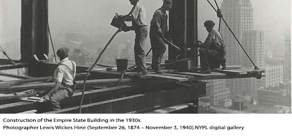 construction of the empire state building in the 1930s